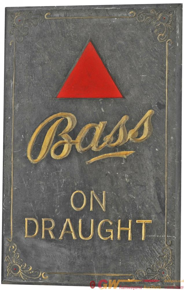 Brewery Advertising  Slate Sign  'Bass On