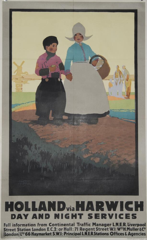 Poster LNER 'Holland Via Harwich Day & Night