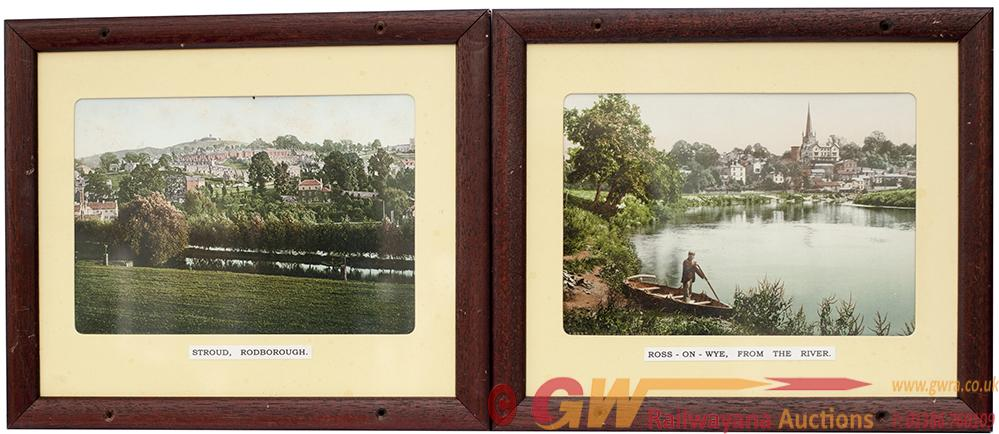 GWR Carriage Panels X 2 ROSS ON WYE FROM THE RIVER