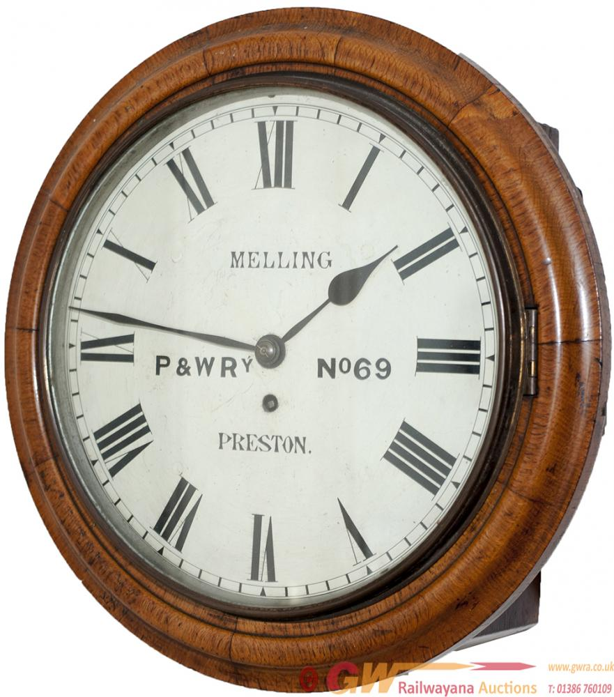 Preston & Wyre Railway 12in Mahogany Cased Fusee
