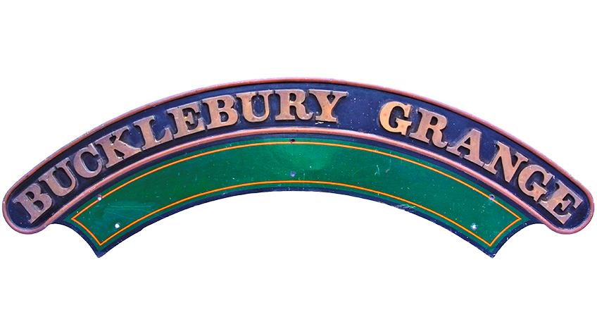Collectable Antique Railwayana Auction World Records - GW Railwayana - GWR Nameplate Bucklebury Grange