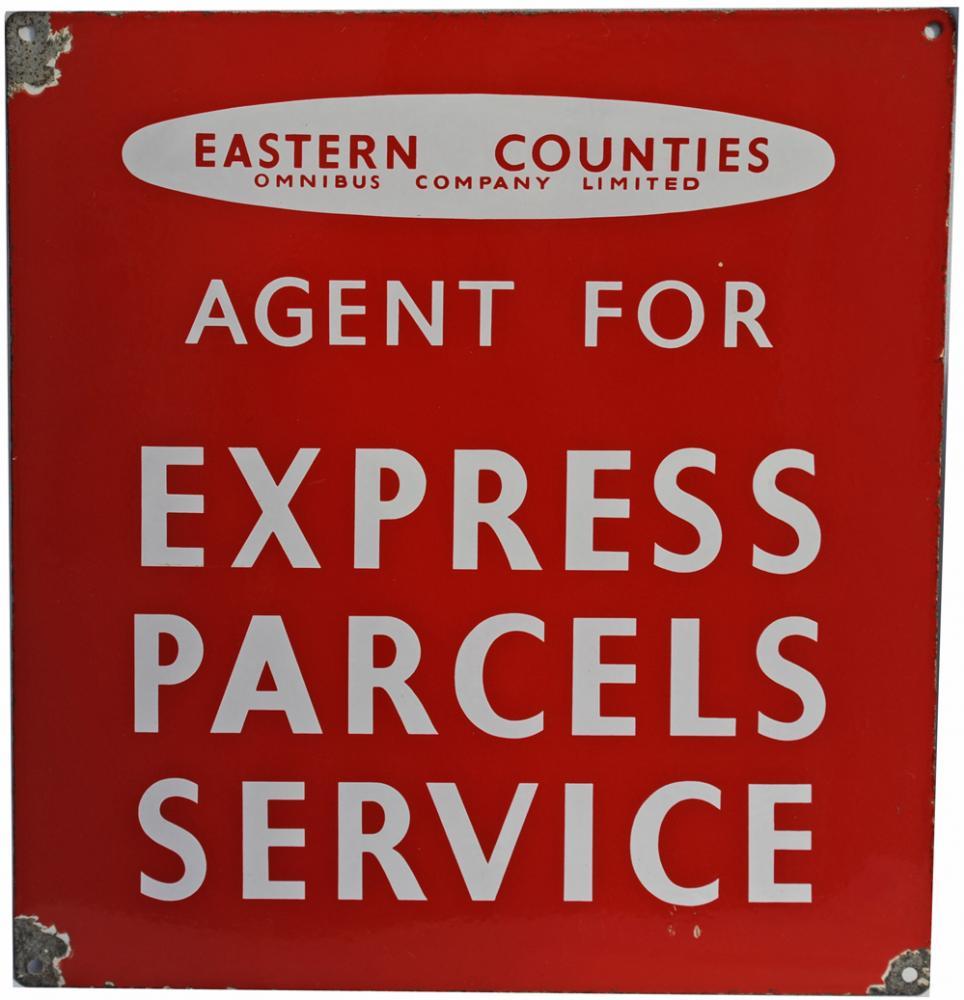 Enamel Advertising Sign Eastern Counties Omnibus