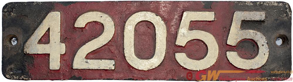 Smokebox Numberplate 42055 Ex Fairburn 2-6-2 T