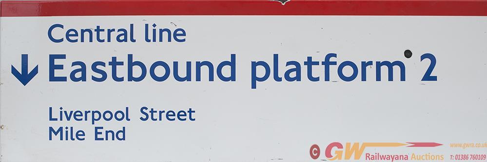 London Transport Underground FF Enamel Sign