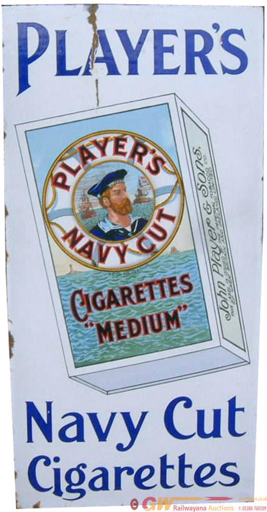 Advertising Enamel Sign 'Players Navy Cut