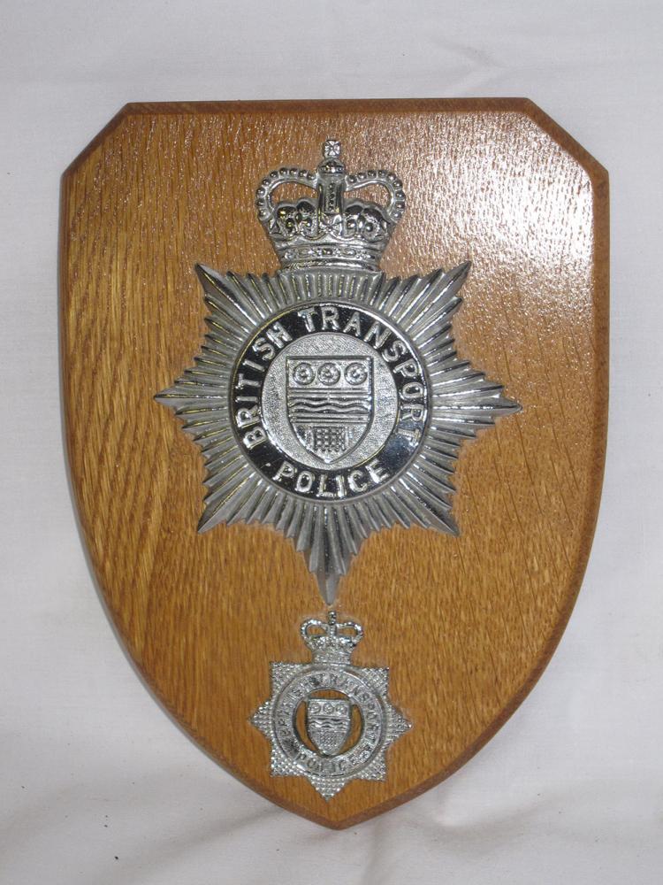 British Transport Police Helmet Badge Mounted Onto