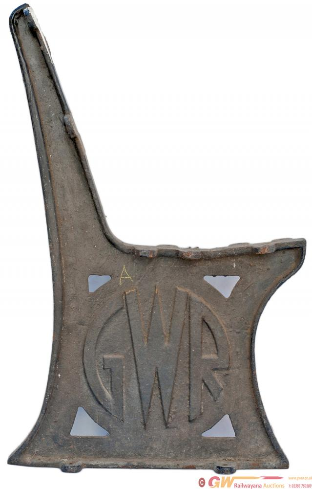 GWR Cast Iron Seat Ends X 3 With The GWR Roundel