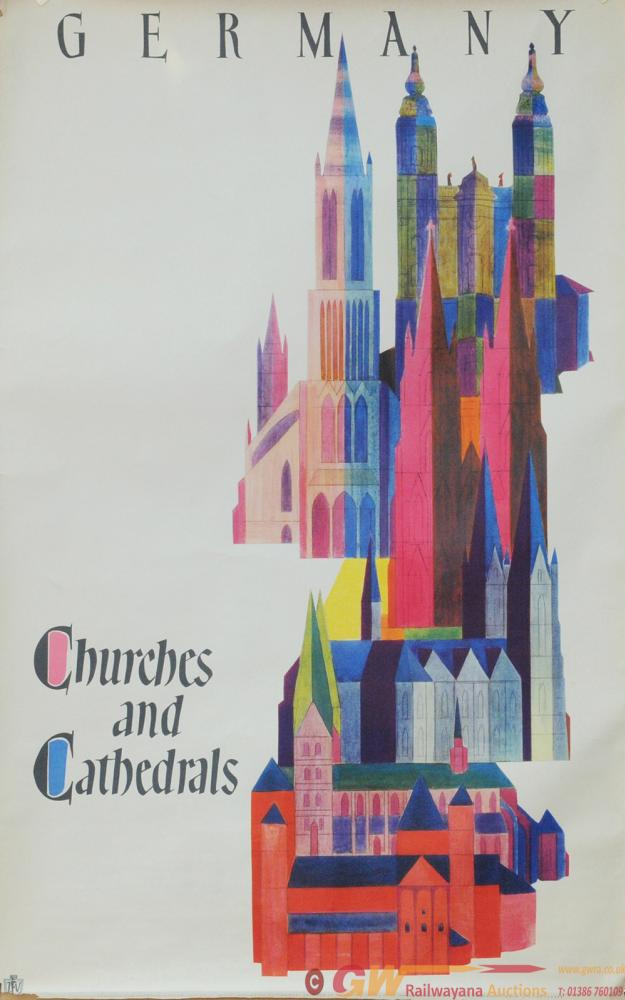 Poster - Churches And Cathedrals. Double Royal