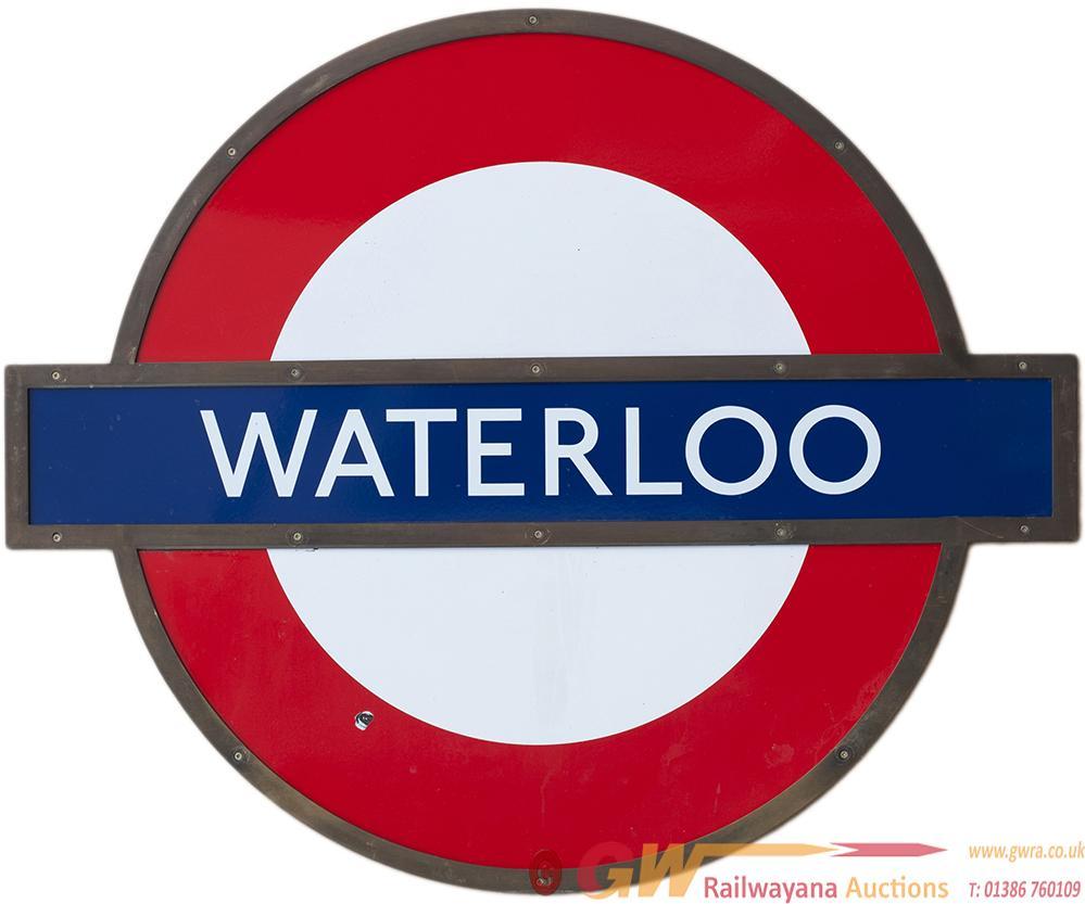 London Transport Target/Bullseye Enamel Sign