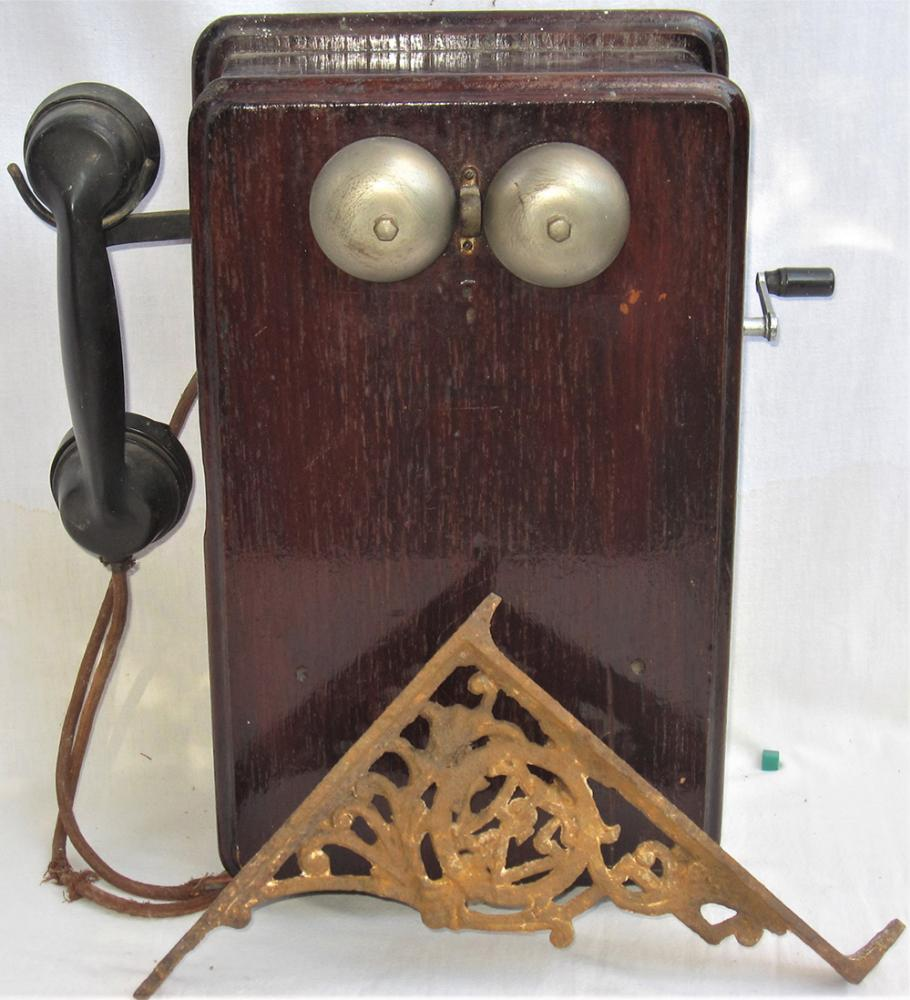 Control Telephone With Bakelite Handset Together