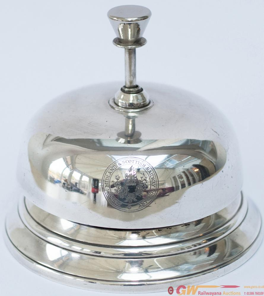 LMS Hotels Silver Plated Reception Desk Bell, Full
