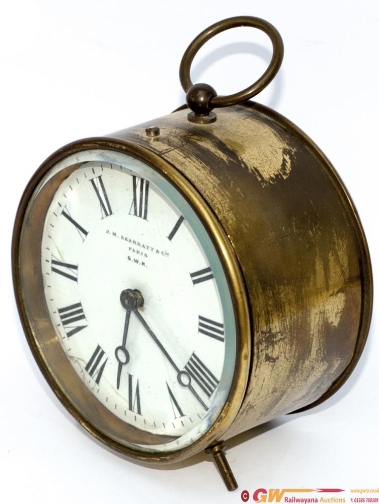 GWR Brass Drum Railway Clock With 3.5 Inch