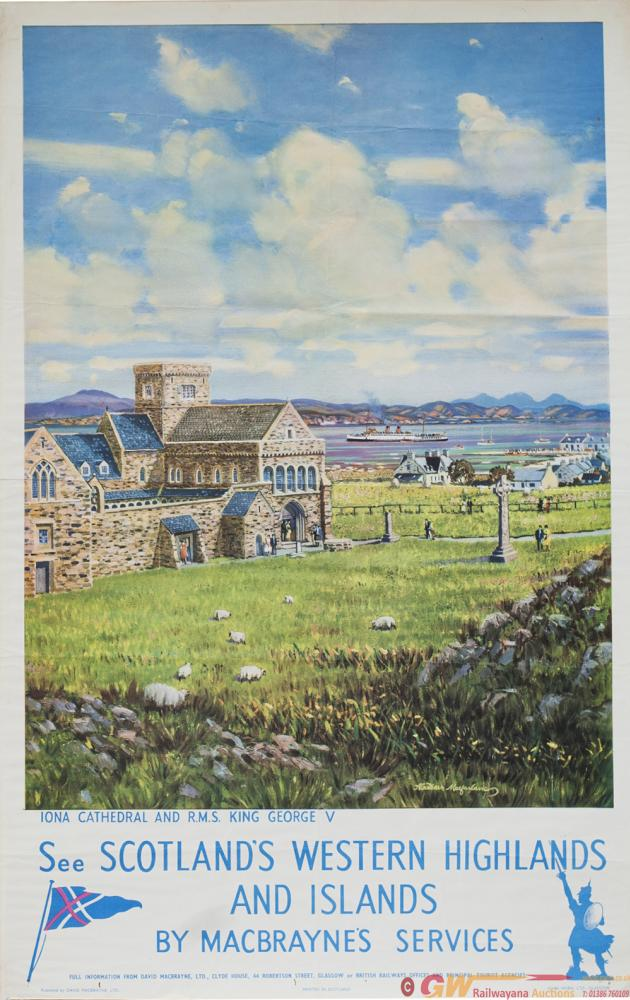 Poster BR/ MACBRAYNE'S IONA CATHEDRAL AND R.M.S.