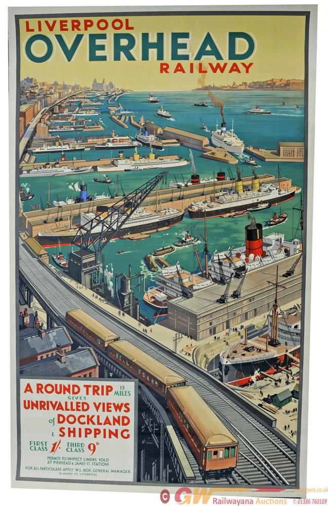 Poster Of The Liverpool Overhead Railway By WT,