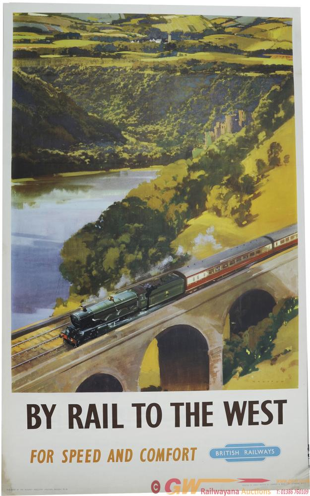Poster British Railways 'By Rail To The West' By