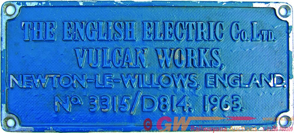 Worksplate, English Electric Company Ltd.,  Vulcan