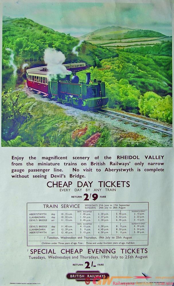 Poster, The Rheidol Valley - British Railways'