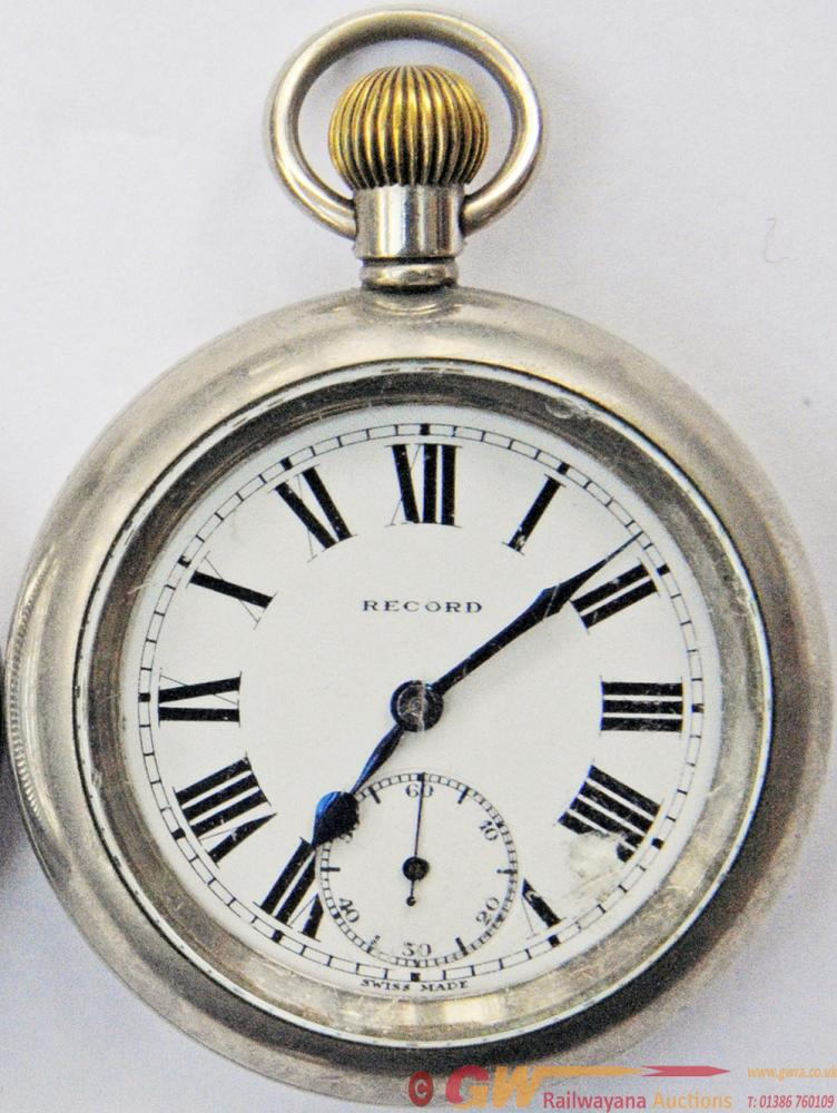 GWR Pocket Watch By Record, Swiss Made. Case