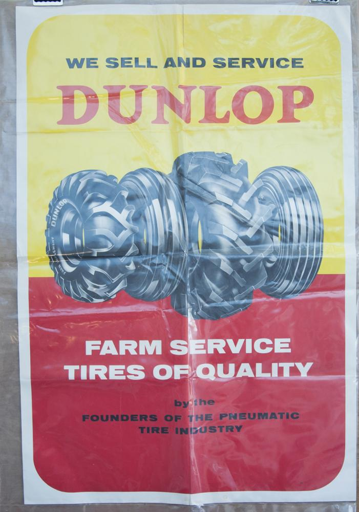 Dunlop Farm Service Tyres Of Quality Poster.