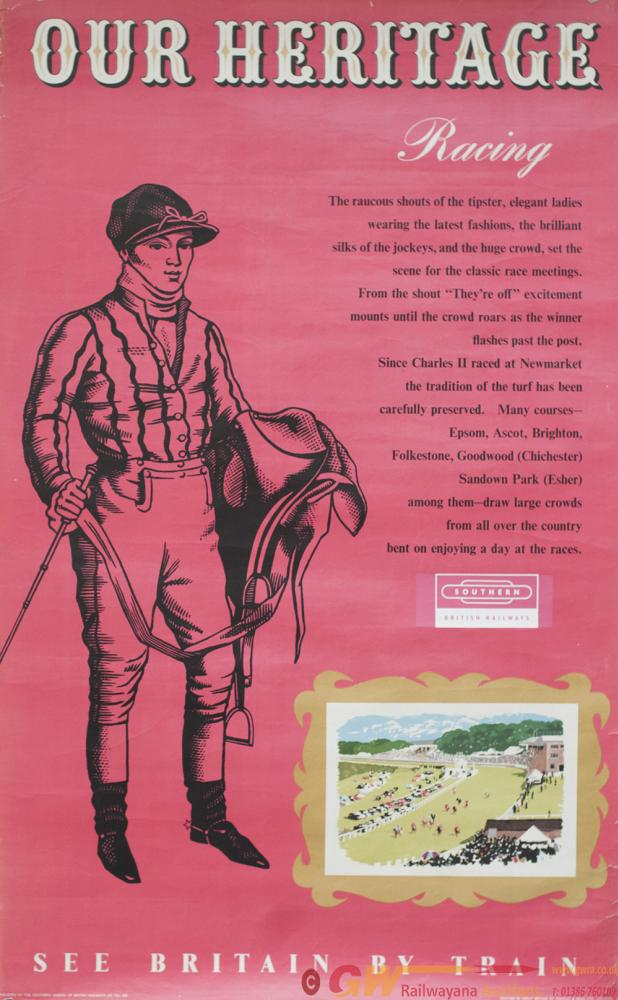 Poster BR OUR HERITAGE RACING Re Horse Racing At