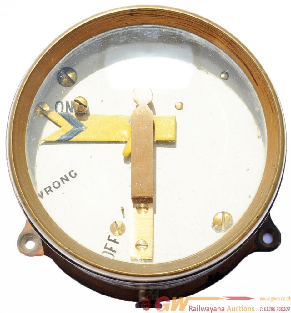 GWR Brass Cased Distant Signal Indicator,
