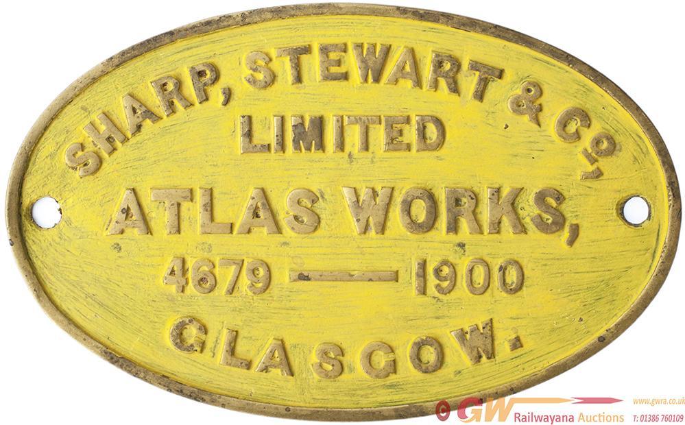 Worksplate SHARP, STEWART & CO LIMITED ATLAS WORKS