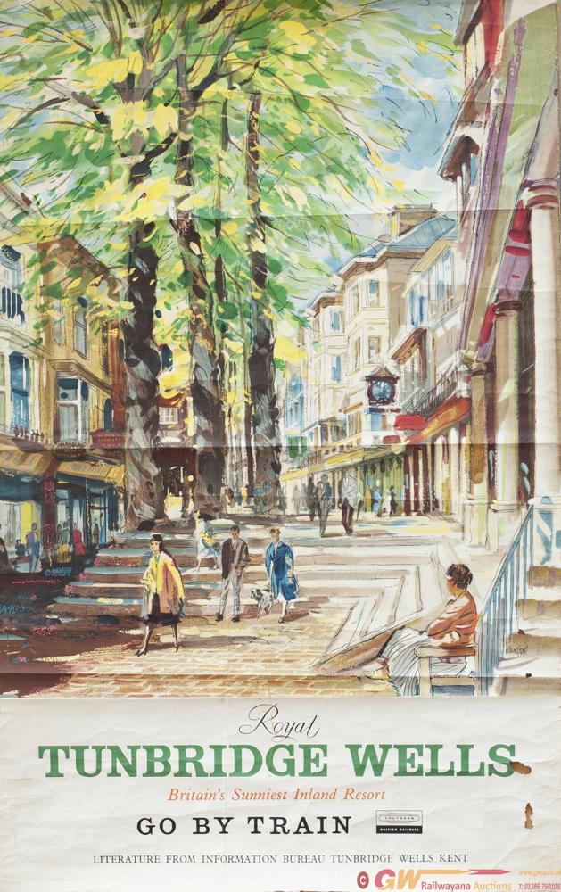 Poster BR(S) TUNBRIDGE WELLS BRITAINS SUNNIEST
