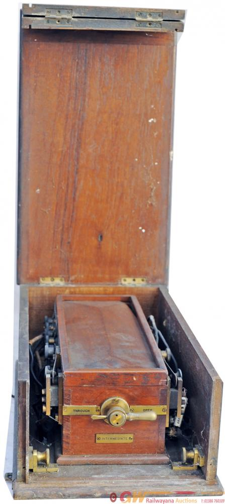 LMS Mahogany Cased Signal Box Switching Out Box