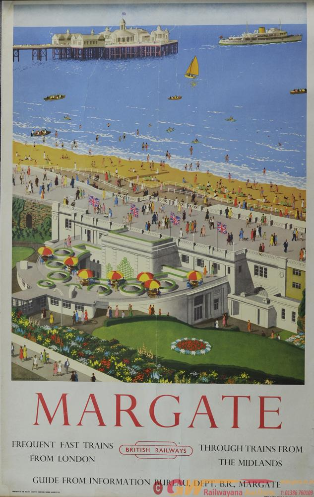Poster BR 'Margate' By Ronald Lampitt, Double