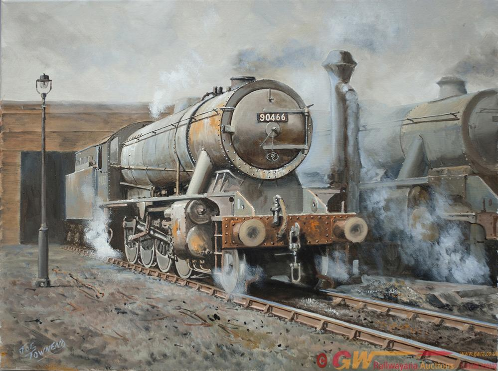 Original Oil Painting On Canvas Of WD 90466 On