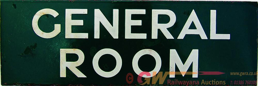 Southern Railway Enamel Doorplate GENERAL ROOM,