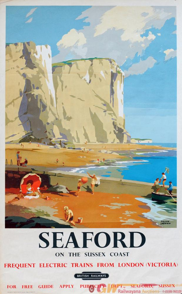 Poster British Railways 'Seaford - On The Sussex