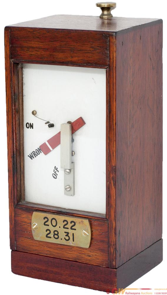 GWR Mahogany Cased Home Signal Indicator Complete