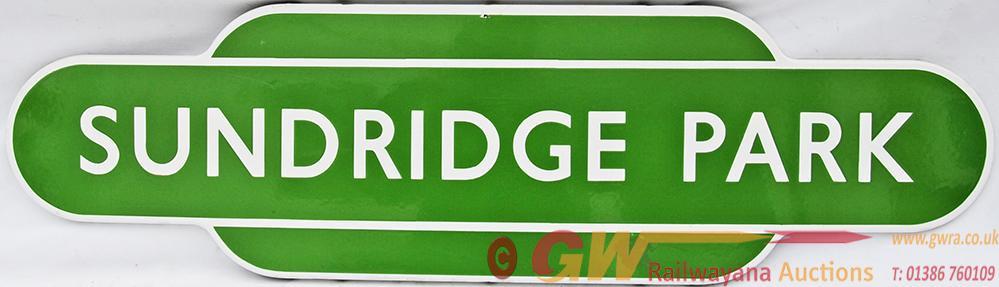 Totem BR(S) SUNDRIDGE PARK,  F/F. Ex SECR Station,