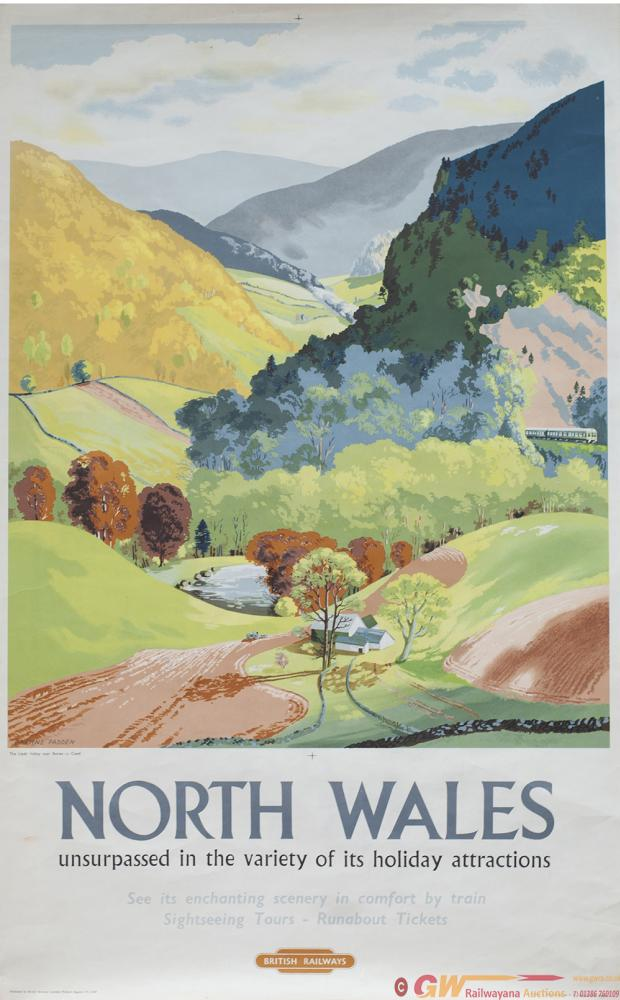 Poster BR NORTH WALES UNSURPASSED IN THE VARIETY