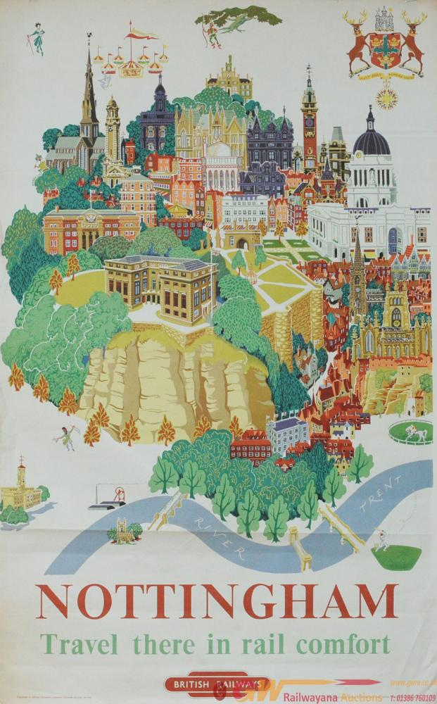 Poster BR(M) 'Nottingham' By Kerry Lee Circa 1953,