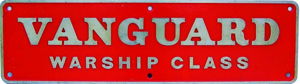 Nameplate VANGUARD - WARSHIP CLASS, Ex British
