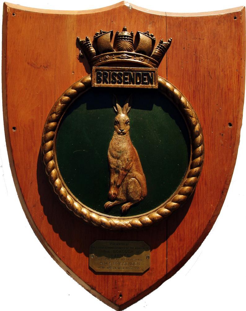 Royal Navy Ships Plaque HMS BRISSENDEN Together