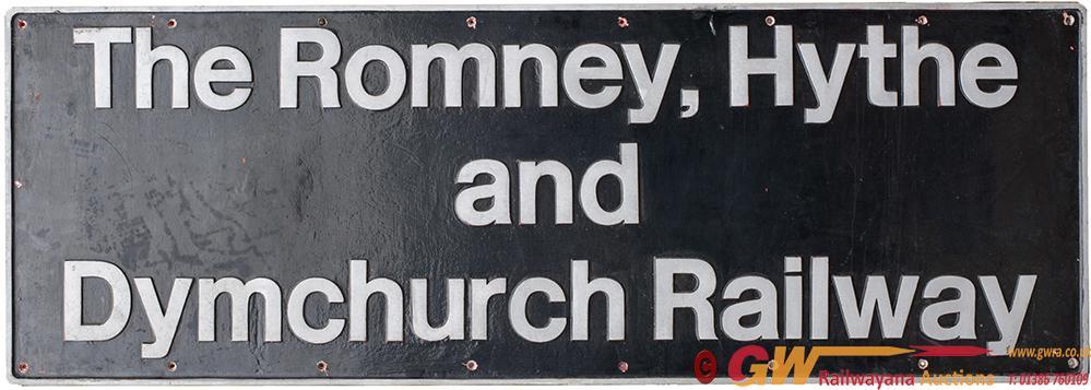 Nameplate ROMNEY, HYTHE & DYMCHURCH RAILWAY Ex BR