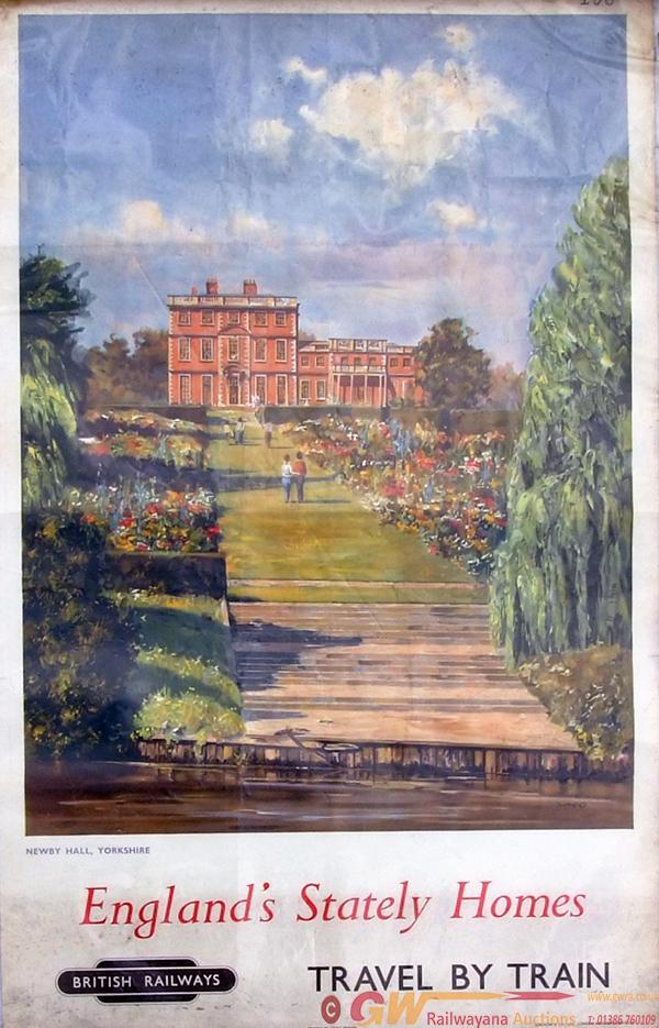 Poster, British Railways D/R Size 'Newby Hall