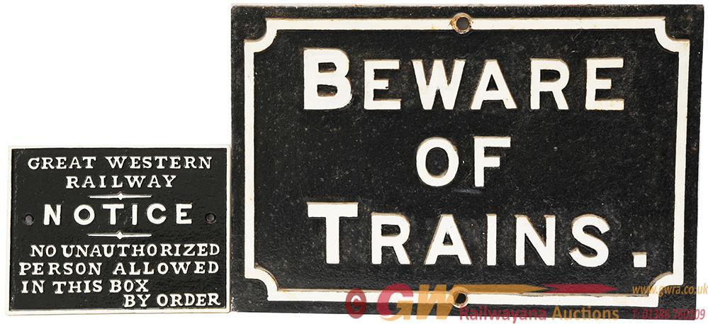 Midland Railway Cast Iron Beware Of Trains With