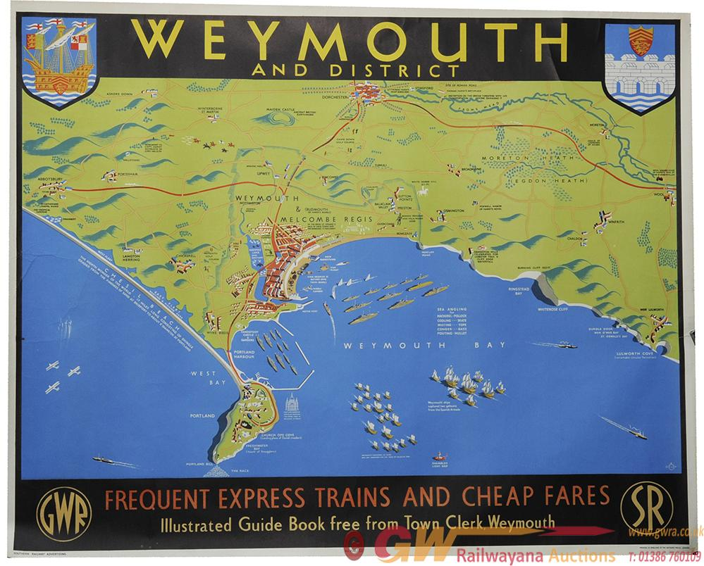 Poster 'Weymouth And District Map' By Dilly Quad