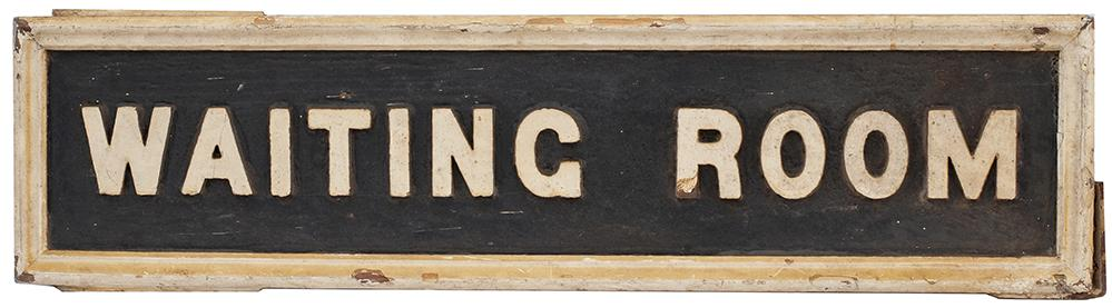 GWR Platform Sign WAITING ROOM, Wood With Cast