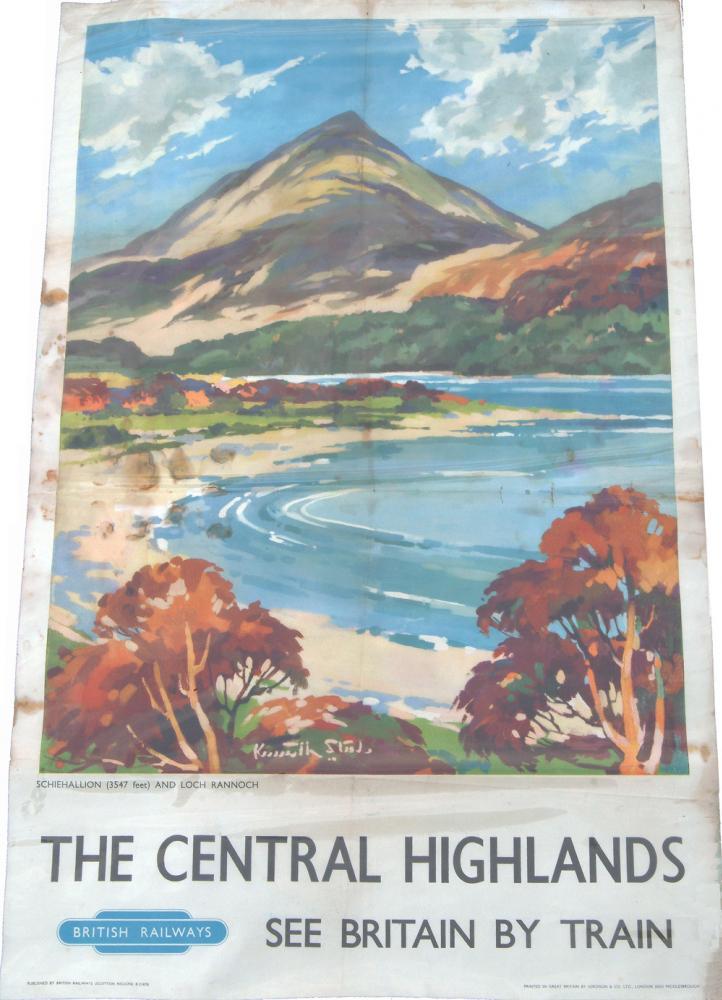 Poster,  'The Central Highlands, Schiehallion
