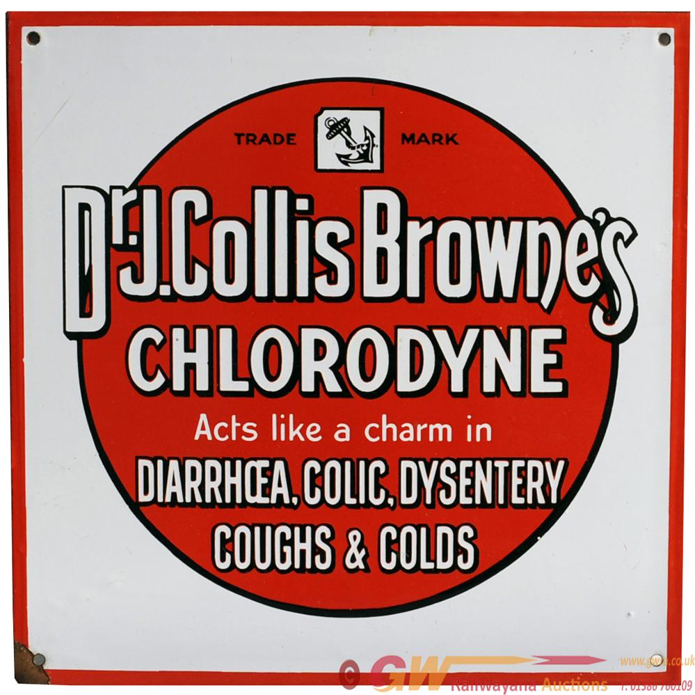 Advertising Enamel Sign ' Dr J Collos Browne's