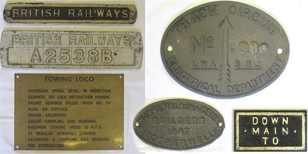 A Collection Of Railway Plates To Include Brass