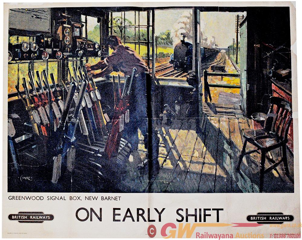 Poster British Railways 'On Early Shift -