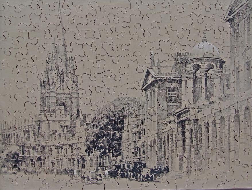 GWR Chad Valley Wooden Jigsaw, 'Oxford' (Black And