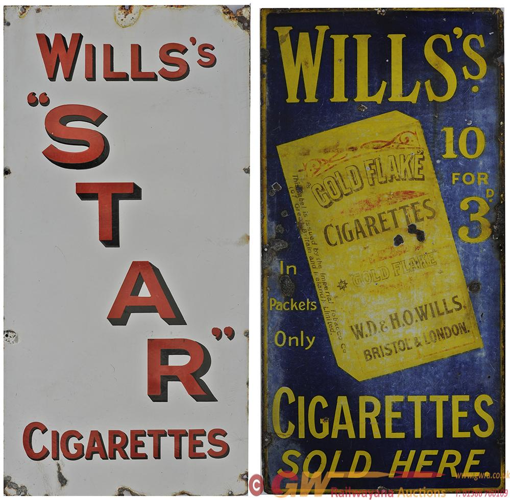 Advertising Enamel Signs, A Pair. WILLS'S GOLD