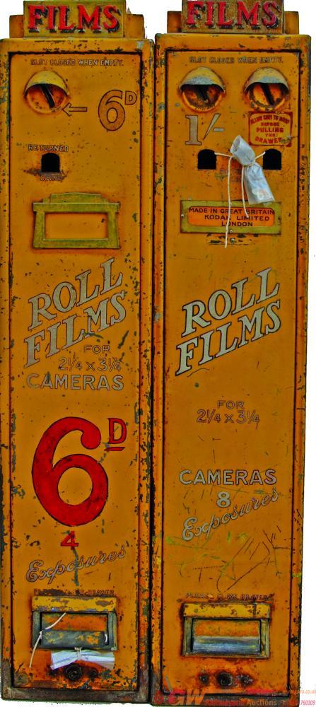 A Pair Of Kodak Film Dispensing Machines As Found